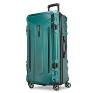 American Tourister Trip Locker Spinner Trunk in the color Dark Green.