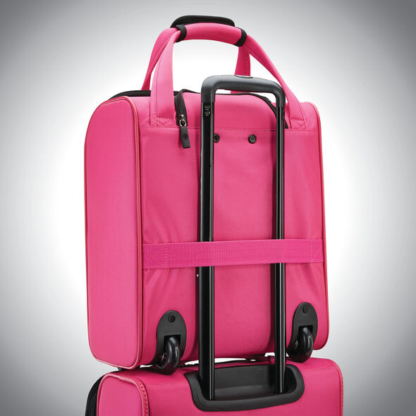 American Tourister 4 Kix Rolling Tote in the color Pink.
