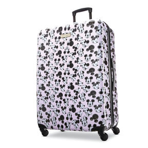 "American Tourister Disney Mickey & Minnie 28"" Spinner in the color Minnie Loves Mickey."