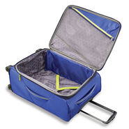 "American Tourister Sonic 25"" Spinner in the color Blue/Lime."
