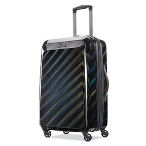 "American Tourister Moonlight 24"" Spinner in the color Iridescent Black."