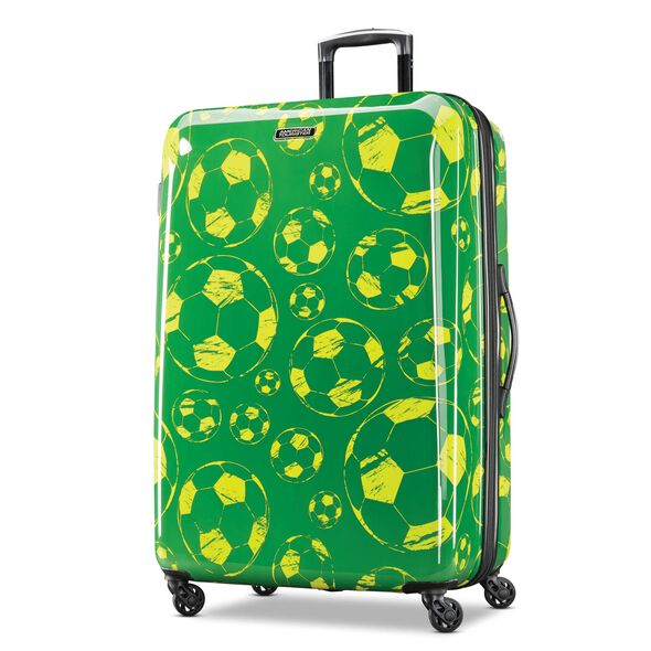 "American Tourister Moonlight 28"" Spinner in the color Green/Yellow."