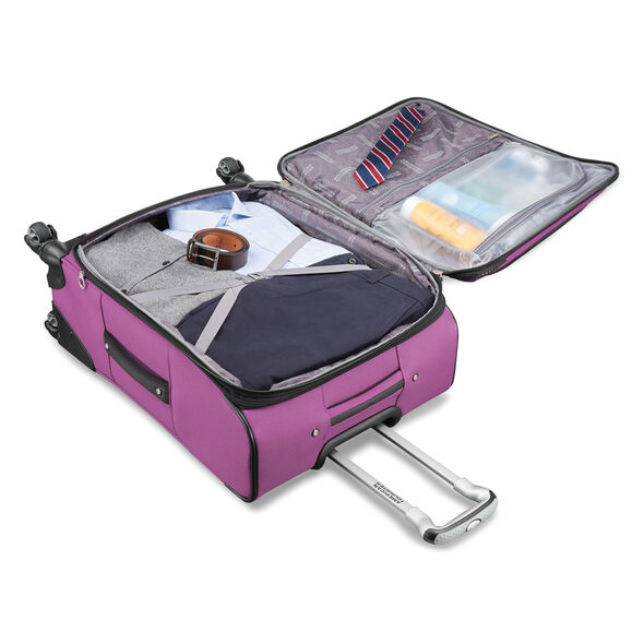 """American Tourister Meridian NXT 21"""" Spinner in the color Purple."""