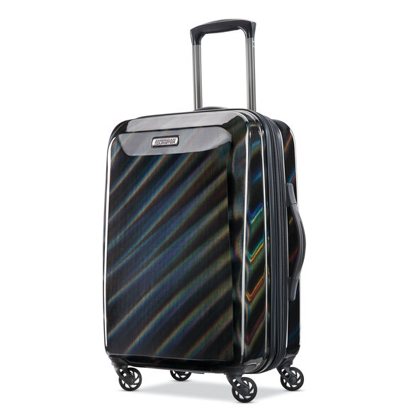 """American Tourister Moonlight 21"""" Spinner in the color Iridescent Black."""