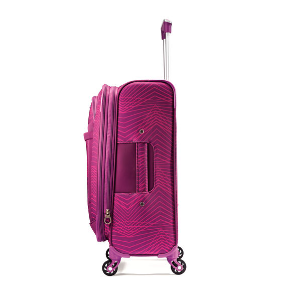 """American Tourister iLite Max 21"""" Spinner in the color Pink/Purple Stripes."""