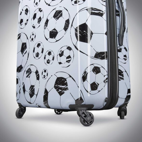 "American Tourister Moonlight 28"" Spinner in the color White/Black."