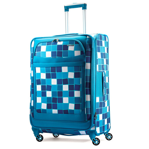 """American Tourister iLite Max 29"""" Spinner in the color Light Blue Squares."""