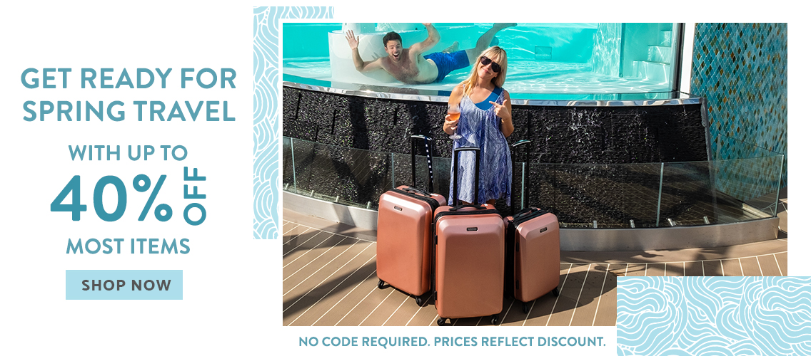 cb0825d228caa Up to 40% off most items on American Tourister. Prices reflect discount. No