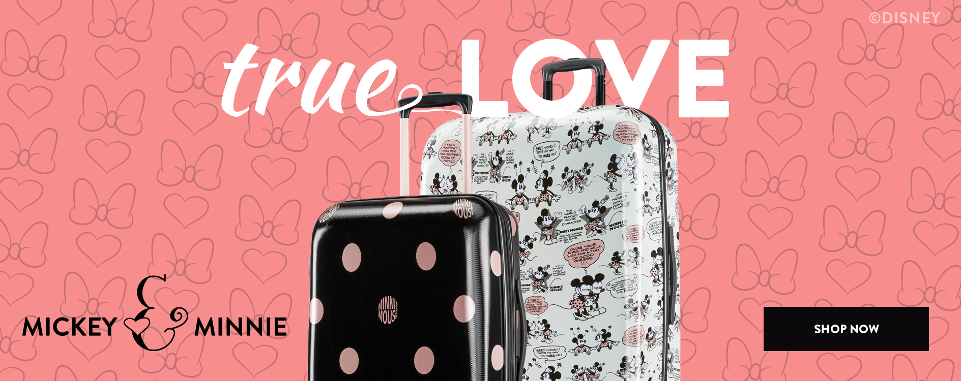 6c9fa0a17c3 It s true love with Mickey and Minnie! Shop American Tourister Partnered  With Disney Luggage Collection