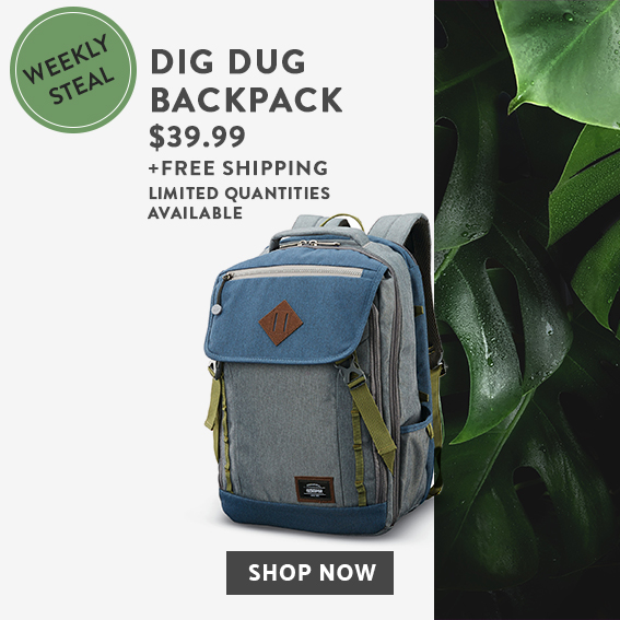 b9ca83990 Weekly Steal - Limited Time Offer. Dig Dug Backpack for $39.99, Plus Free  Shipping